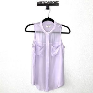 Madewell Lavender Sleeveless Button Down Blouse